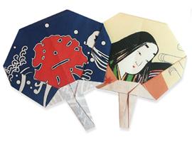 「うちわ」折り紙